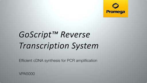GoScript Reverse Transcription System Video